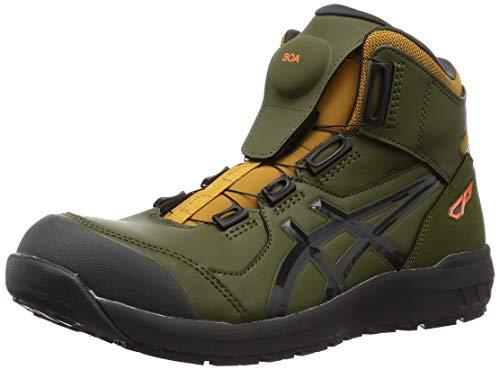 [アシックス] ワーキング 安全靴/作業靴 ウィンジョブ CP304 BOA JSAA A種先芯 耐滑ソール fuzeGEL搭載 スモッググリーン/グラファイトグレー 26.5 cm 3E
