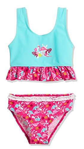Playshoes Mädchen UV-Schutz Bikini Flamingo Tankini, Türkis (Türkis 15), 86 (Herstellergröße: 86/92)