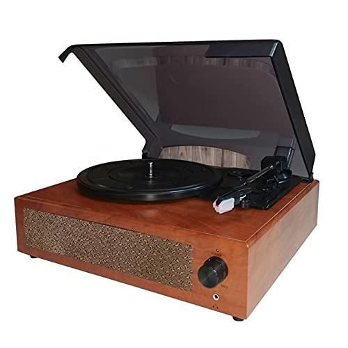 conpoir Gramófono portátil Reproductor de Discos de Vinilo Fonógrafo Giratorio clásico Vintage con Altavoces estéreo incorporados