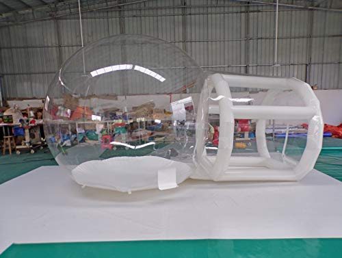 Transparent Inflatable Bubble Camping Tent 2m Support Tunnel with Blower and Air Pump