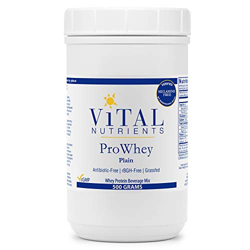 Vital Nutrients - ProWhey - Whey Protein Beverage Mix - Plain - 500 Grams per Bottle