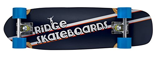 Ridge Short Cruiser Skunkslider Skateboard, Blu
