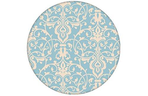 Lichtblauw, discreet weelderig behang met klassiek damastpatroon aangepast aan Little Greene muurkleuren - vliesbehang ornamenten verschillende maten - exclusieve wanddecoratie - GMM design behang - wandbehang - wand decoratie (baanbreedte: 46,5 cm) klassiek • MUSTER (20cm) lichtblauw