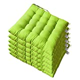 AGDLLYD 6er Set Stuhlkissen für Innen- und Außenbereich Sitzkissen Garten 40x40x5 cm Stuhlkissen...