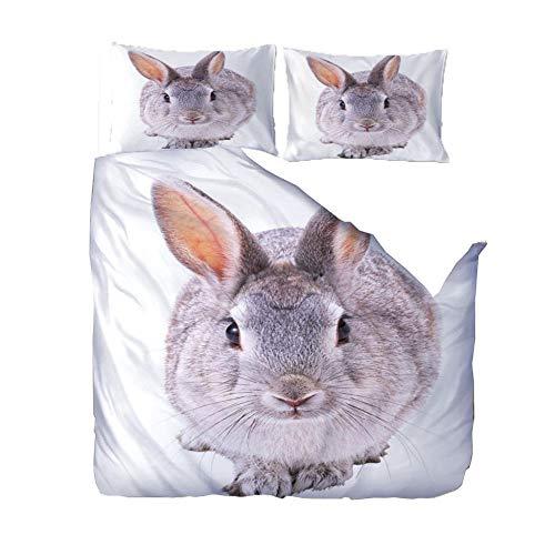 SZYUY Juego De Funda Nórdica 220X260Cm Obese Animal Rabbit...
