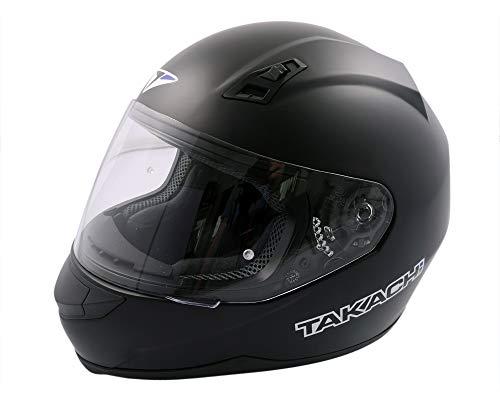 Integralhelm, Rollerhelm, Motorradhelm TAKACHI TK41 satin-schwarz - Größe L