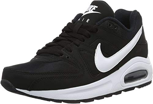Nike Air Max Command Flex (GS), Scarpe da Ginnastica Bambino, Nero Schwarz Weiß Weiß, 36.5 EU