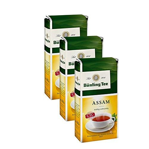 Bünting Tee Assam, 250g loser Tee 3er Pack