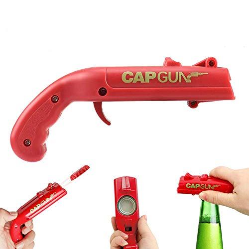 Abridor de botellas de cerveza, lanzador de pistola de tapón Shooter Abridor de botellas de cerveza, abrelatas de botellas de cerveza pistola de juguete para fiesta de bar Dispara más de 5 metros