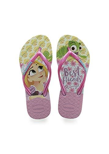 Havaianas Kid's Tangled Flip Flop Sandal, Ice Blue, 2 M US Little Kid