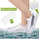 ComfiTime Waterproof Shoe Covers, Shoe Covers for Rain, TPE Rubber Material Stronger Than Silicone, Bonus Storage Case, Non-Slip, Durable and Reusable Shoe Protectors Covers for Men, Women & Kids, XXL