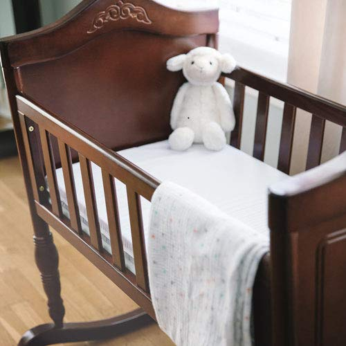 Crib Mattress Nursery Baby Breathable Quilted and Waterproof Toddler COT Crib Bed Breathable Foam Mattress Crib Mattress Cradle Pram Swing 75 X 35 X 4 cm