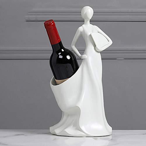 WMM -Wine rack Character Ceramics Weinregal/Flaschenregal für Theken/Innenausbau Wine Rack Bracket, Gifts Home Decorations (Farbe : A)