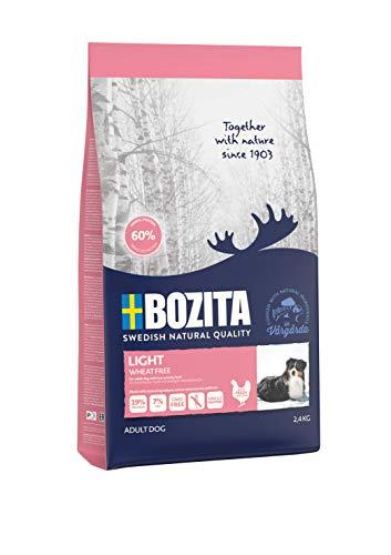 BOZITA Nourriture pour Chien Light sans blé - sans blé - 2,4 kg - Croquettes produites de manière Durable pour Chiens Adultes - Aliment Complet