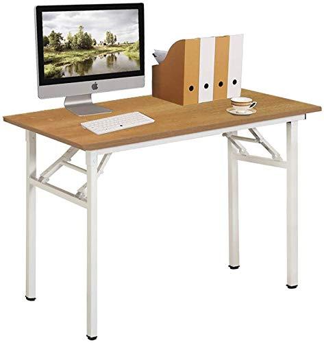 Need Klapptisch kleiner Computertisch Schreibtisch 100CM Klappbar und Montagefrei,Tisch aus E1 Holzwerkstoffen und Stahlrahmen,Konferenztische,PC Tisch Bürotisch...