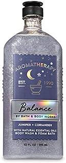 Bath and Body Works Aromatherapy Balance Juniper Coriander Body Wash and Foam Bath 10 Ounce