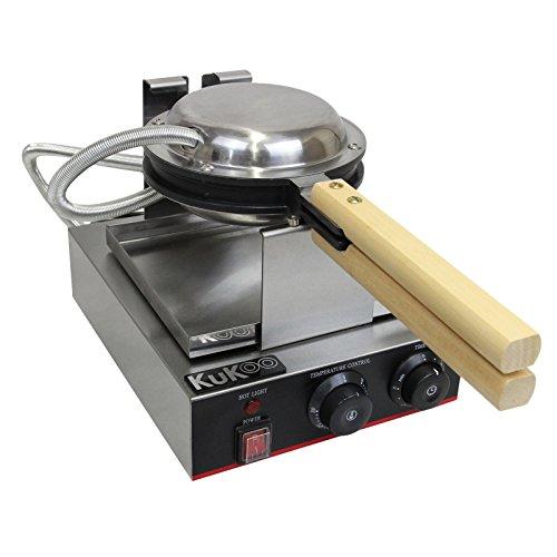 KuKoo Gastronomie Profi Waffeleisen Gastro-Waffeleisen Waffelautomat mit Gratis Waffelzange