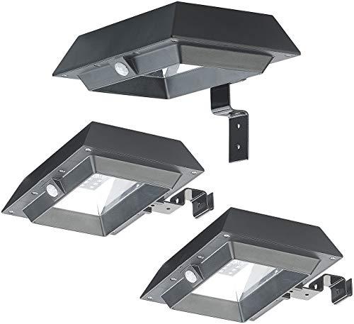 Lunartec Dachrinnenleuchten: 3er-Set 2in1-Solar-LED-Dachrinnen- & Wandleuchten, PIR-Sensor, 300 lm (Solar LED Dachrinnenleuchte)