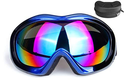 KKING 100% Strata Unisex Enduro Brille Sport Skibrille Mountainbike Motorrad Maske, UV 400 Schutz Windwiderstand Blendschutzgläser Mit Brillenbox,Blau