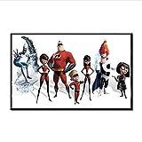 lubenwei Incredibles 2 Poster und Drucke Superman Family