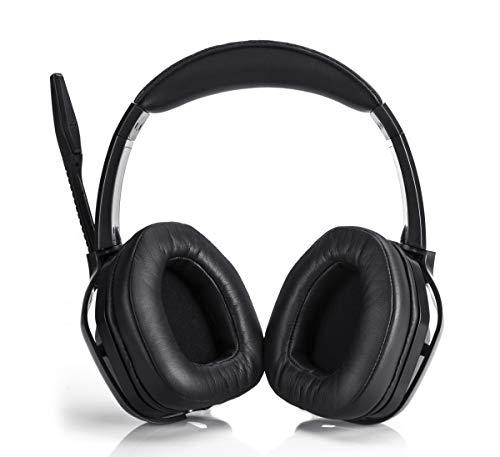Amazon Basics– Premium-Gaming-Headset für PCs und Konsolen (Xbox, PS4), mit Audiomixer, schwarz