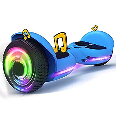 TOMOLOO Hoverboard Bluetooth and Flash Led Lights Wheels, Kids Hover Board with UL Certified, Self Balancing Electric Scooter for Adults