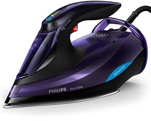 Philips - Plancha (Plancha a vapor, SteamGlide Advanced, 3 m, 260 g/min, Negro, Púrpura, 75 g/min)