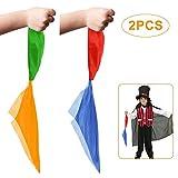 SNAGAROG 2 Paquetes Pañuelo mágico Pañuelo Que Cambia de Color Easy Hanky Juego de Trucos de Magia Calle Accesorios de Trucos de Magia Suministros de Trucos