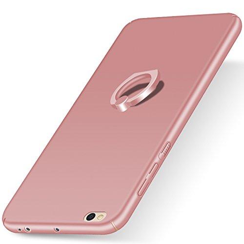 Funda Fermezza Smartphone Custodie con Anello per Xiaomi Mi 5C(Oro Rosa)