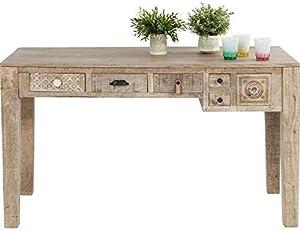 Kare Design - Bureau 5 tiroirs en Bois Clair Ethnique Puro