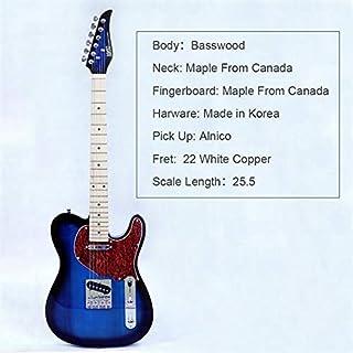 $111 » BORNMIO New style electric guitar basswood body maple neck maple fingerboard alnico pick up black turn blue color good qua...