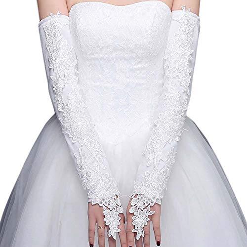 Gants de mariée mariage robe de soirée dentelle longs gants A01