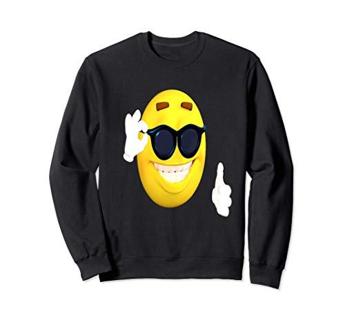 Emoji pulgares arriba tonos de aprobación feliz linda cara s Sudadera