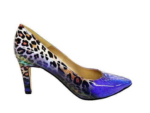 Medina - Salones Stilettos de Vestir para Mujer en Piel con Punta FinaTacon Fino de 7 cm - Hechos en España - Moda Zapatos Tacones Elegantes -