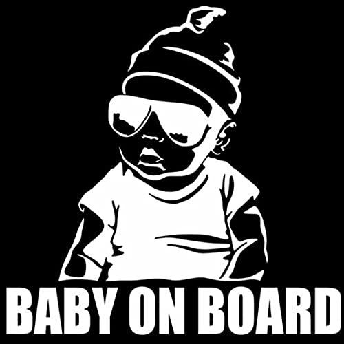 LSPLSP Baby On Board Intagliato Decal Bambino In Auto Avvertimento di Sicurezza Auto Posteriore Corpo Impermeabile Baby Sticker Bianco
