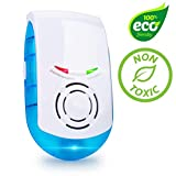 Ultrasonic Pest Repeller and Mosquito Repellent Device - Electronic Indoor Rodent, Insect and Mouse Pest Control Plug in Device with Night Light