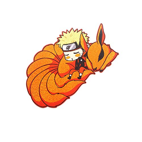 VASTAIR Uzumaki Naruto Anime Embroidery Cloth Patches Iron On Applique for Jeans Backpack DIY Accessory