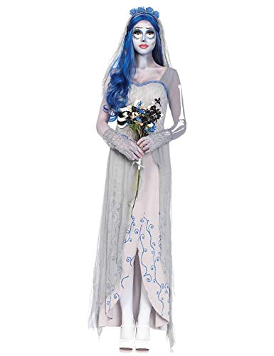 ShiyiUP Disfraz de Fantasma Novia Cosplay Costume para Halloween