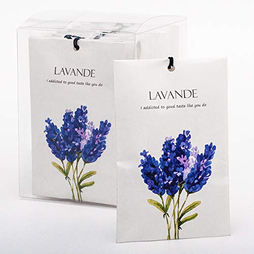 Rose Cottage 12Packs Closet Air Freshener Lavender Scented Sachets Bags for Drawer and Closet Fresh Scents Freshener Clothes 5 Scents Optional