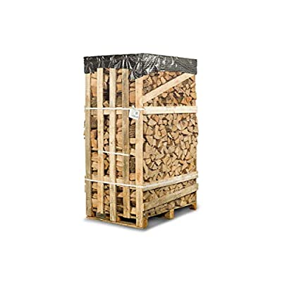 Bioglow Ash Kiln-Dried Hardwood Logs 2.2m3 Crate - Perfect Firewood for Log-Burners, Wood Burning Stoves, Open Fires, Pizza Ovens - Free Fast Delivery - Free Named Day Delivery