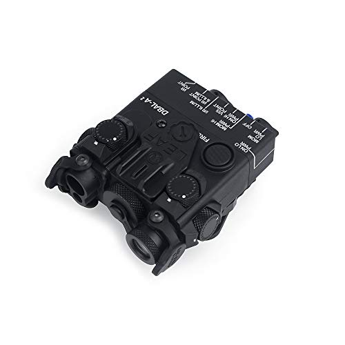 WADSN Nylon-Kunststoff DBAL-A2 Weißlicht und Blitz DBAL A2 Dummy-Batteriebox PEQ-Box mit QD-Halterung für 20-mm-Schiene