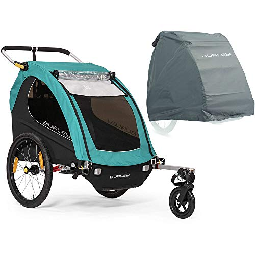 Why Should You Buy Burley Encore X Bike Trailer - Turqouise with Storage Cover