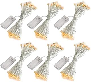 SUPBEC 6 Pcs Battery Operated Fairy String Lights-10ft/3m 30 LEDs Mini Bulb, Super Bright Starry Light for Gift Wedding Pa...