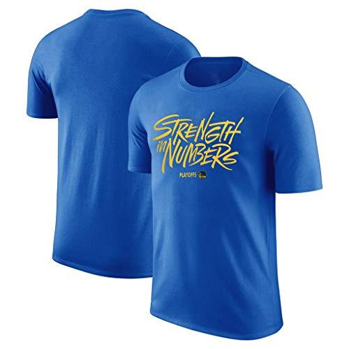 LLSDLS Pallacanestro T-shirt NBA Playoffs Warriors Fans maniche manica corta corta Pallacanestro girocollo traspirante Sport T-shirt formazione di basket del vestito di cotone T-shirt for gli uomini M