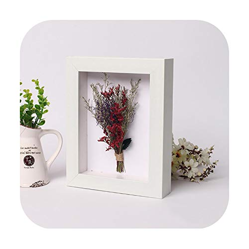 Frames 3D Photo Frame Hollow Depth 3Cm For Flowers,Plant,Pins, Medals,Tickets And Photos Dispaly, Shadow Box For Diy Art Crafts Display-White-Inner Size 17X17Cm