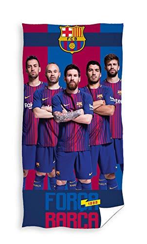 FC Barcelona Badetuch SQ2 + 140x70cm + 100% Baumwolle