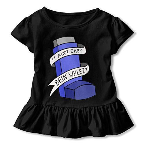 Manga Corta para niñas No es fácil ser Wheezy Camiseta de Manga Corta para niños Unisex Ropa de Escalada para bebés Monos Mameluco Manga Corta Onesies Ligeros Negro