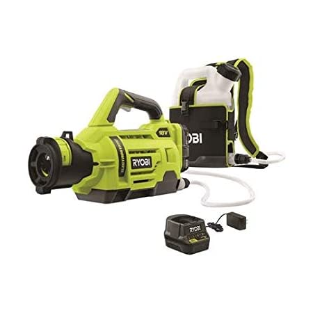 18V 1//2-Gallon Chemical Fogger with 2.0Ah Battery and Charger Ryobi One