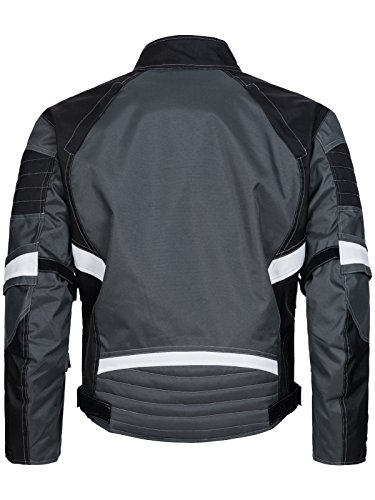 Limitless Herren Motorradjacke mit Protektoren – Textil Motorrad Jacke aus Cordura – wasserdicht winddicht Schwarz Grau Weiß 780 Gr. L - 2
