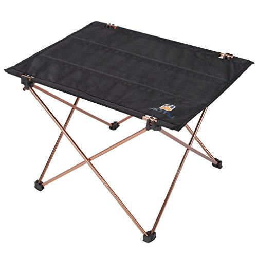 Campingtisch, OUTAD Faltbares Klapptisch-Schreibtisch-Aluminiumlegierungs-Oxford Gewebe Picknick im Freien faltender kampierender Tisch Hiker Ultraleicht Klapptisch